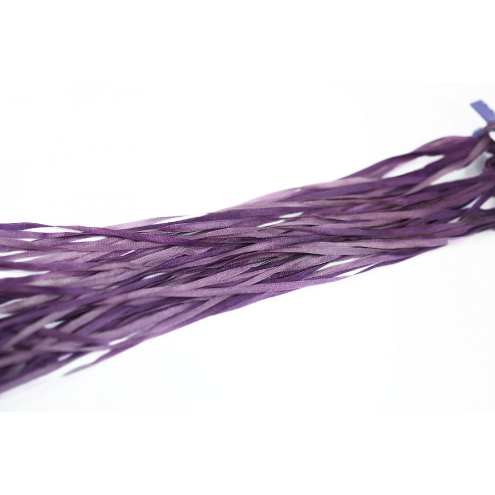 hand-dyed silk ribbon Violet 2mm
