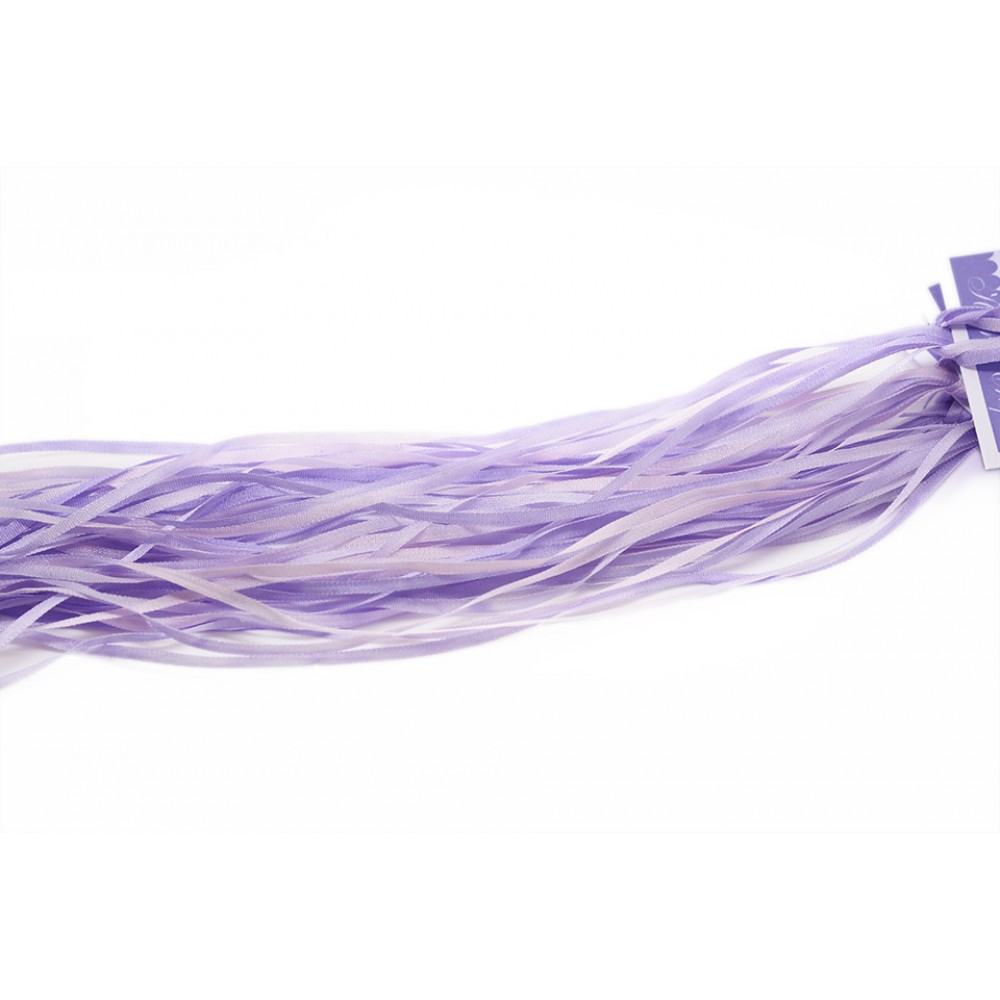 hand-dyed silk ribbon Wisteria 2mm