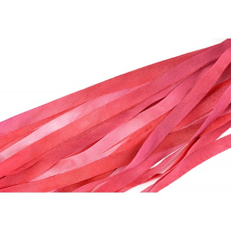 hand-dyed silk ribbon Ruby 7mm