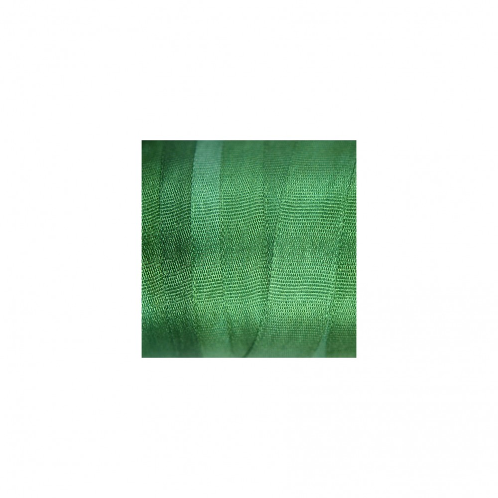 hand-dyed silk ribbon Dark Spring Green 7mm
