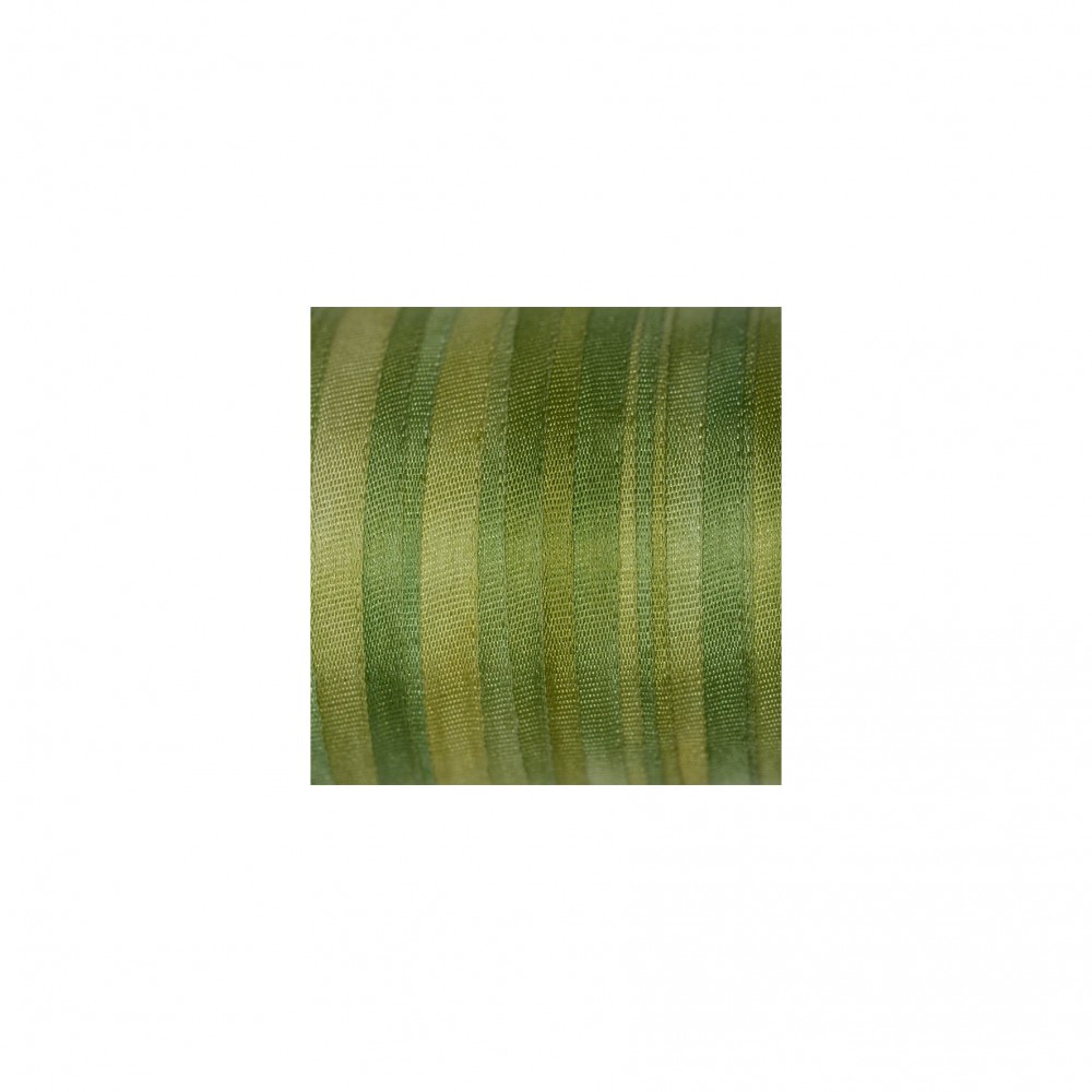 hand-dyed silk ribbon Avocado Green 7mm