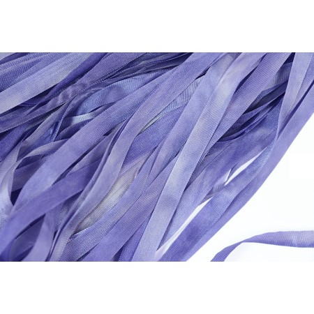 hand-dyed silk ribbon Bluebell 7mm