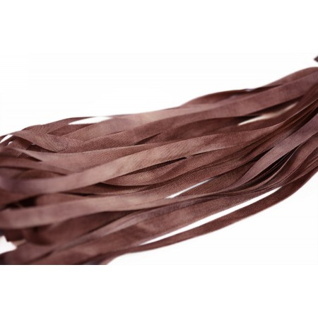 hand-dyed silk ribbon Chestnut 7mm