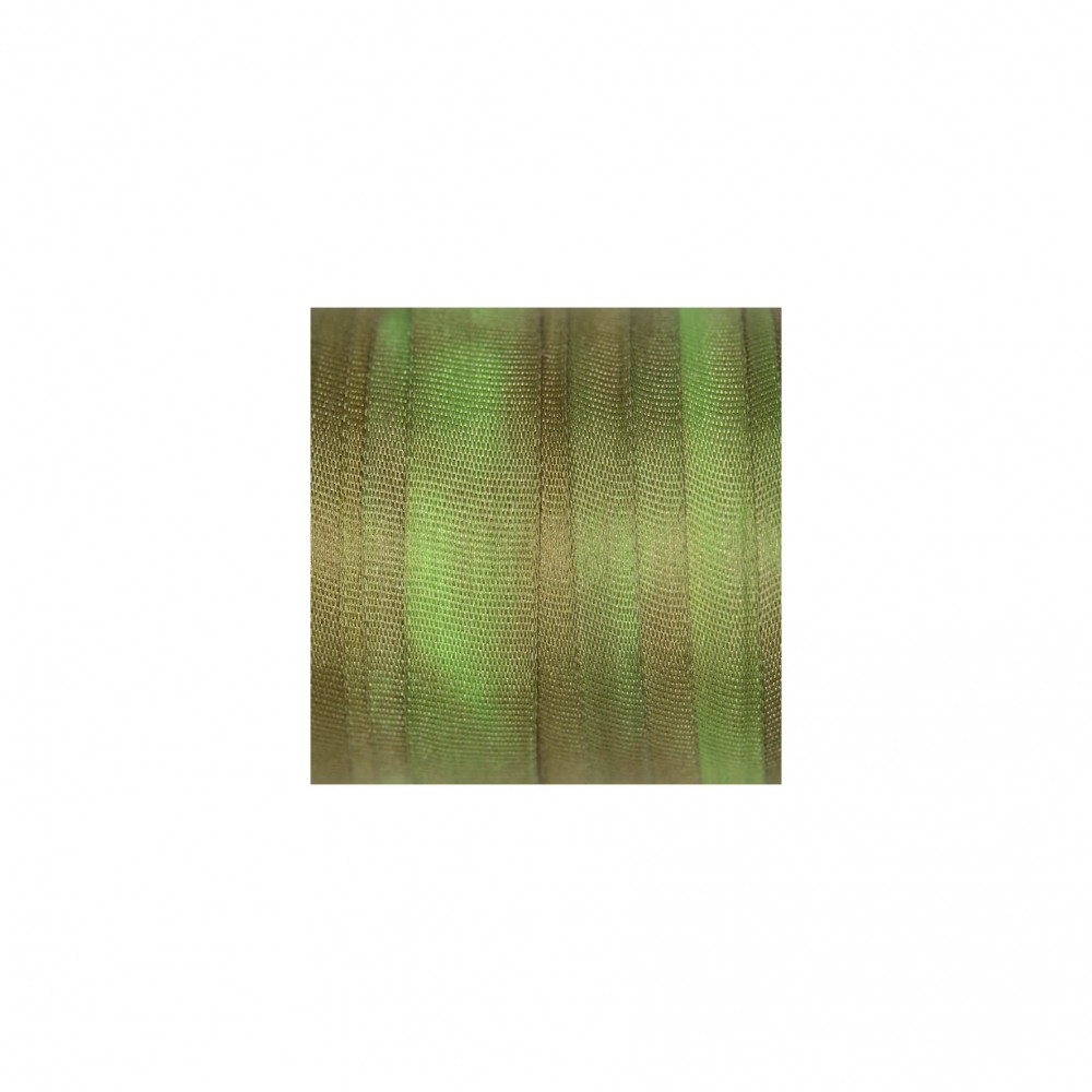 hand-dyed silk ribbon Lawn 7mm