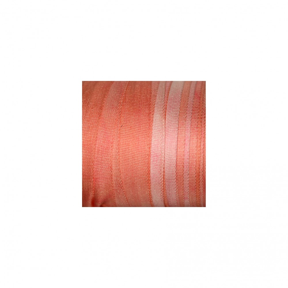 hand-dyed silk ribbon Salmon 7mm