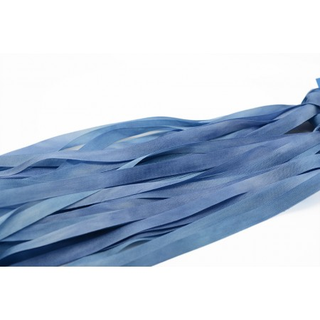 hand-dyed silk ribbon Sea Blue 7mm