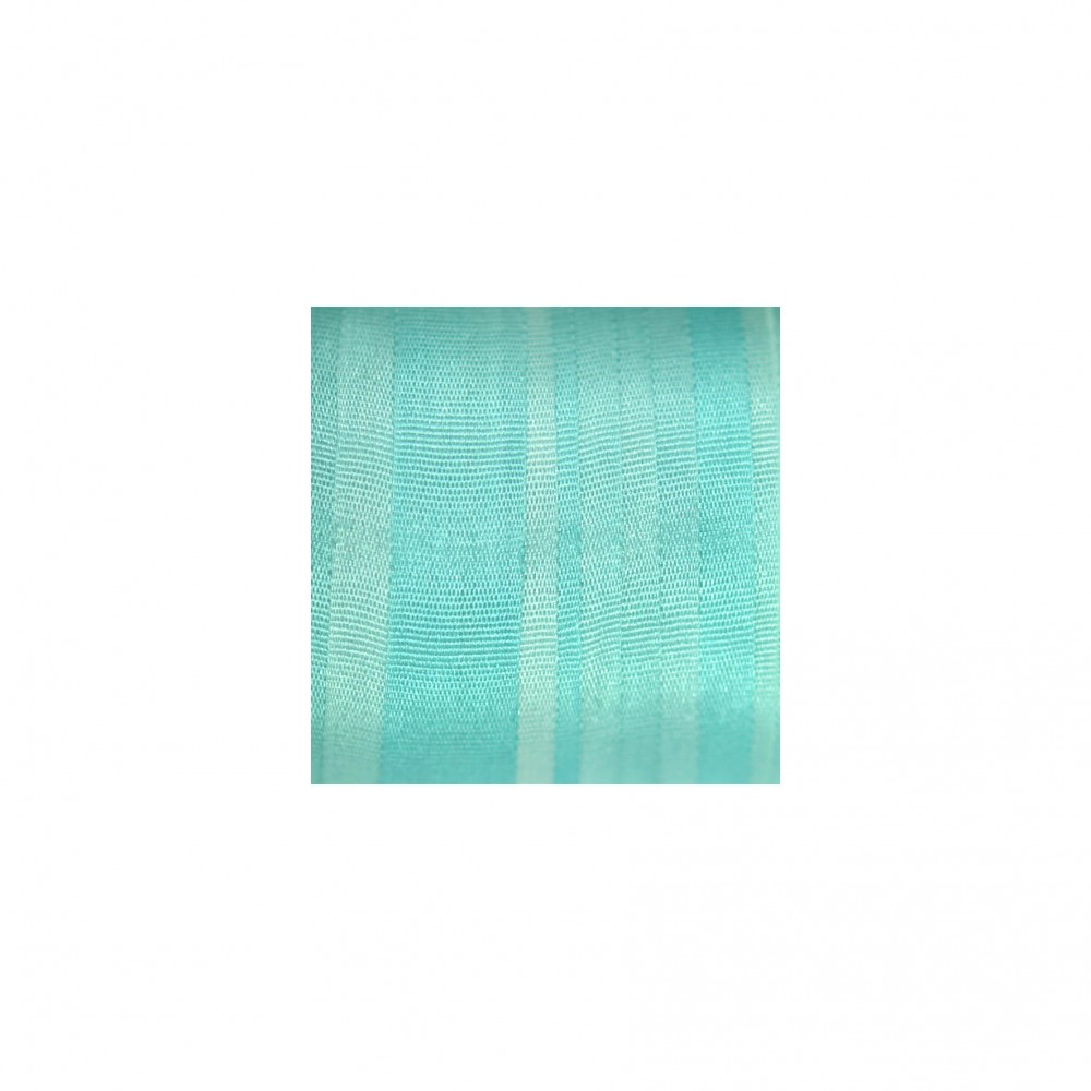 hand-dyed silk ribbon Turquoise 7mm