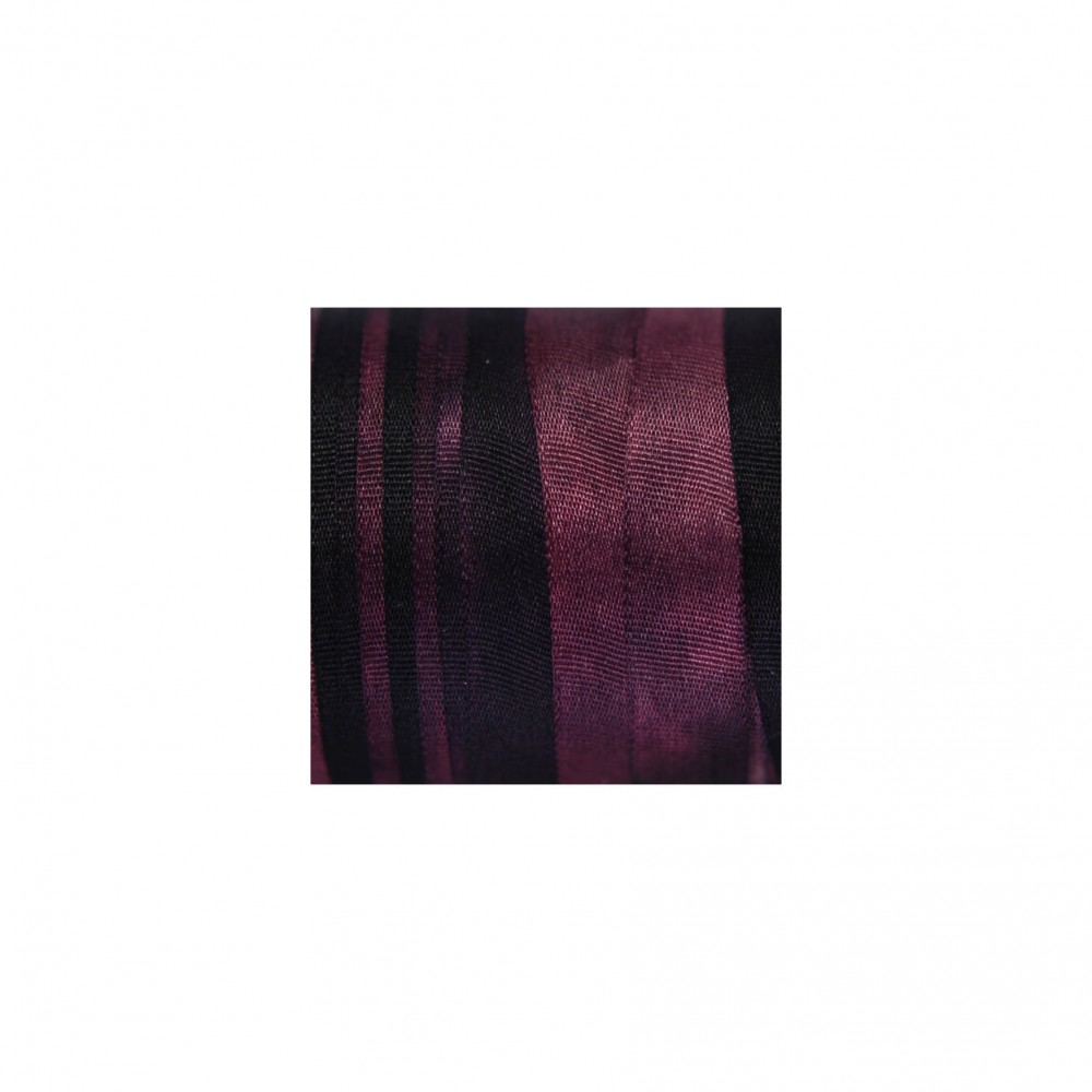 hand-dyed silk ribbon Dark Bordeaux 7mm