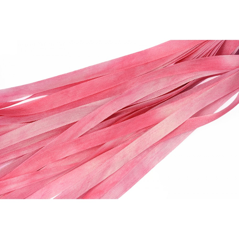 hand-dyed silk ribbon Pink Hyacinth 7mm