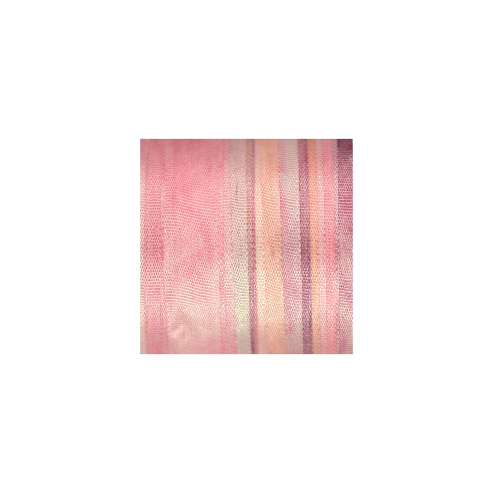 hand-dyed silk ribbon Baby Pink 7mm