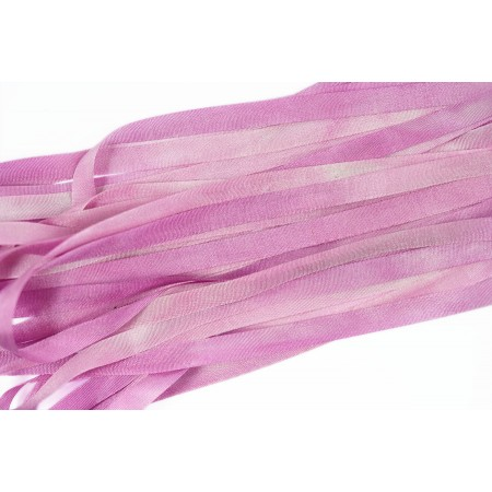 hand-dyed silk ribbon Pale Magenta 7mm
