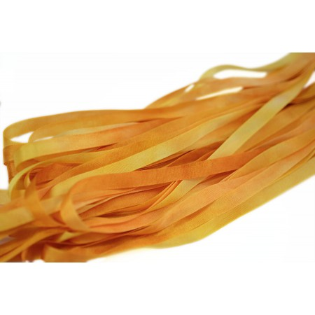 hand-dyed silk ribbon Golden Honey 7mm