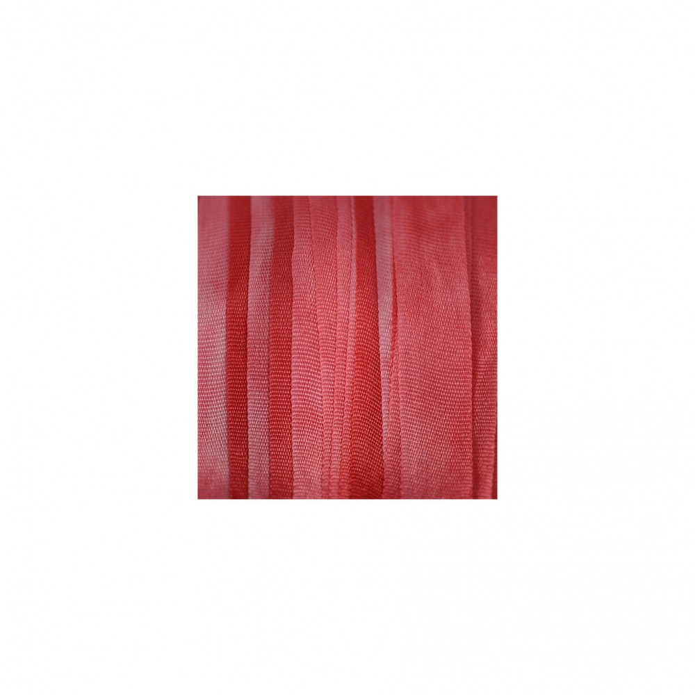 hand-dyed silk ribbon Scarlet 7mm