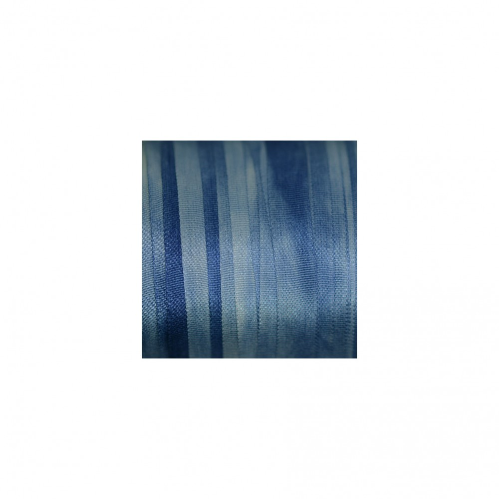 hand-dyed silk ribbon - Navy Blue 7mm
