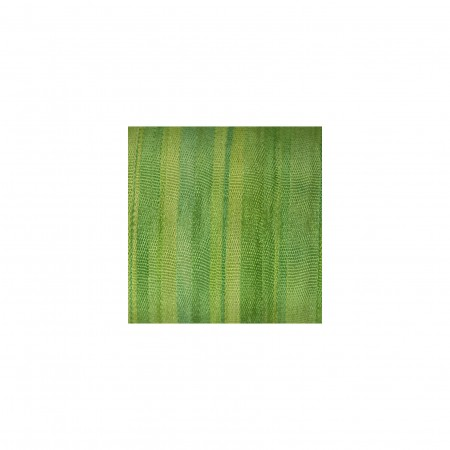 hand-dyed silk ribbon Apple Green 4mm