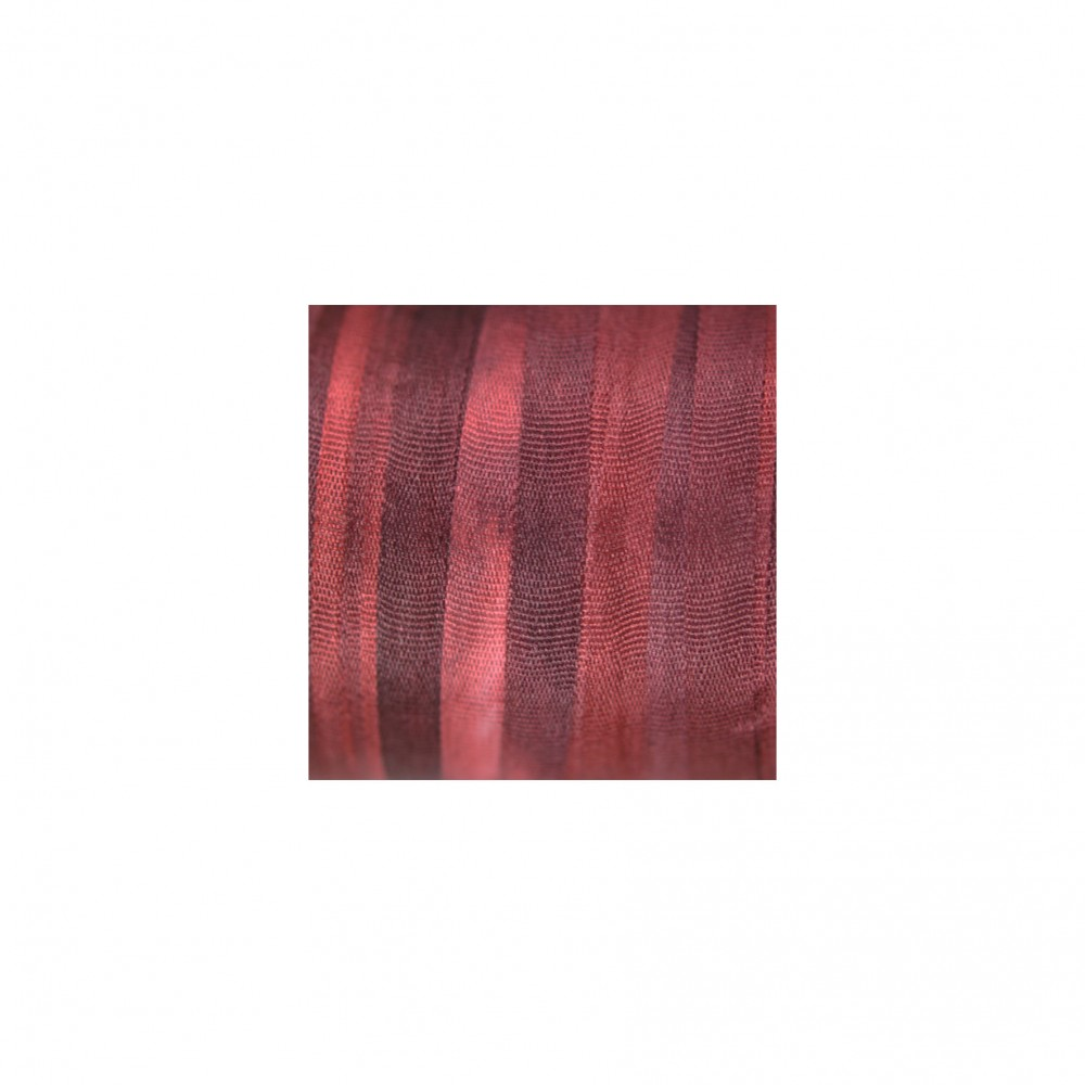 hand-dyed silk ribbon Bordeaux 4mm