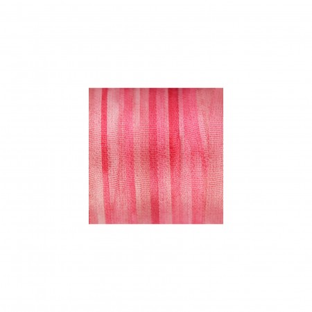 hand-dyed silk ribbon Cherry Pink 4mm