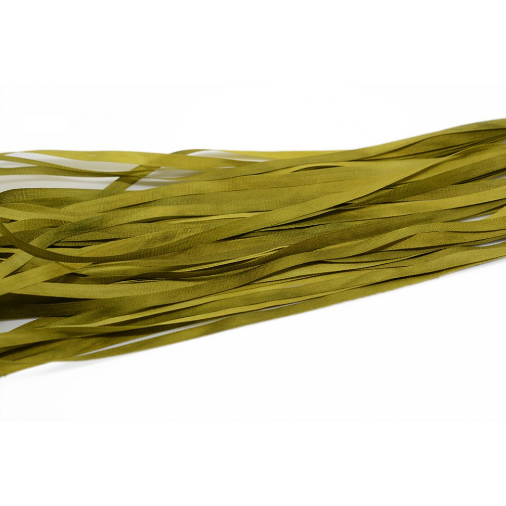 hand-dyed silk ribbon Citrus 4mm
