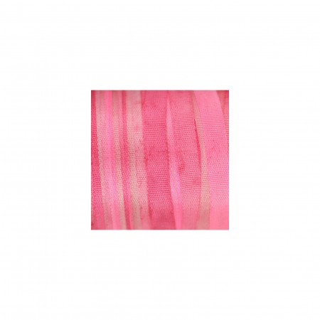 hand-dyed silk ribbon Hot Fuchsia 4mm