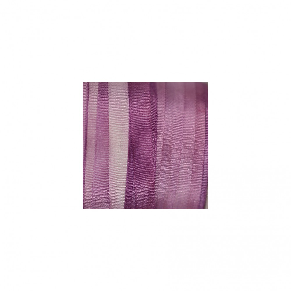 hand-dyed silk ribbon Lavender 4mm