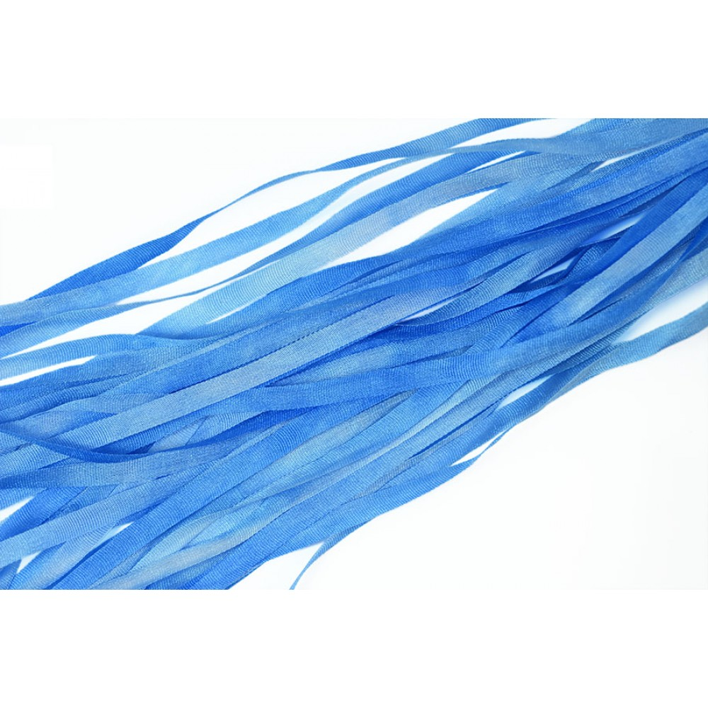 hand-dyed silk ribbon Morning Glory 4mm