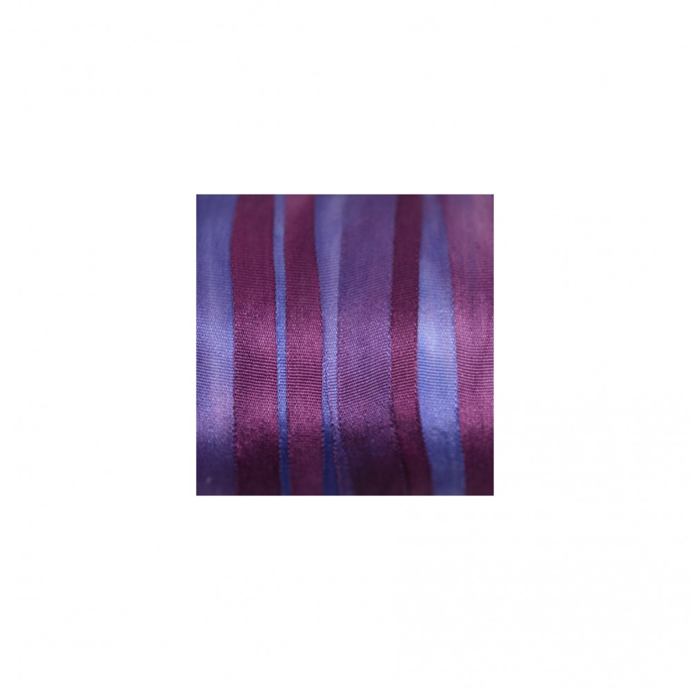 hand-dyed silk ribbon - Plum 7mm