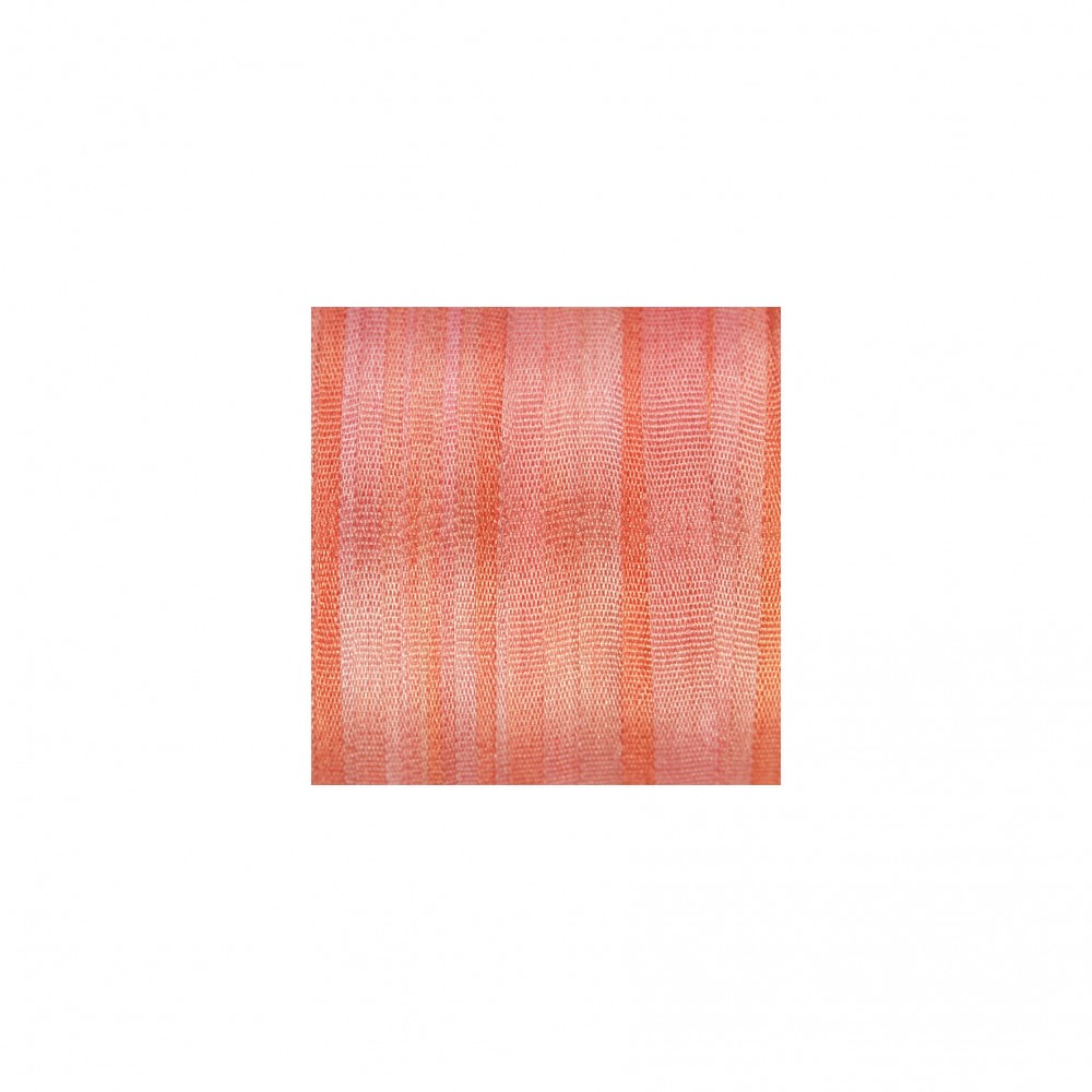 hand-dyed silk ribbon Salmon 4mm