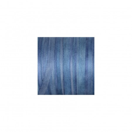 hand-dyed silk ribbon Sea Blue 4mm