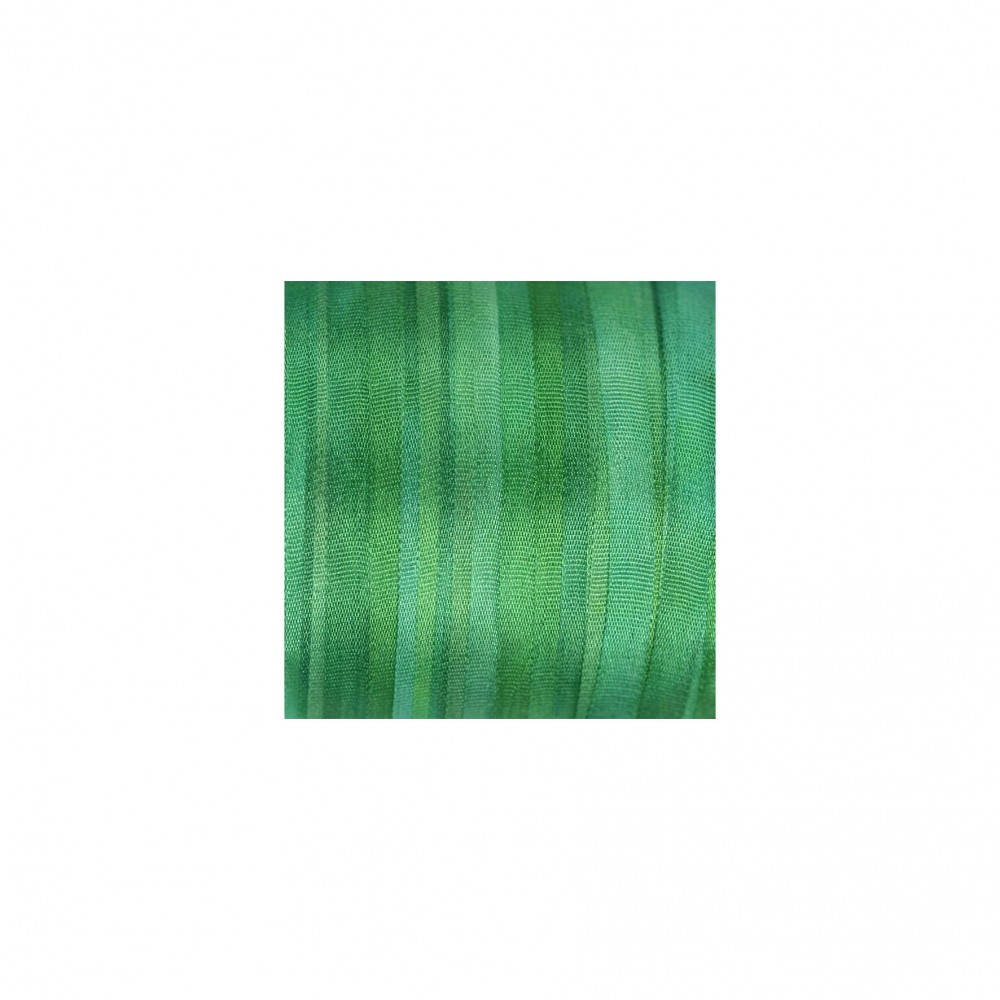 hand-dyed silk ribbon Light Emerald 4mm