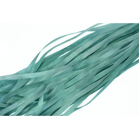 hand-dyed silk ribbon Spruce 4mm