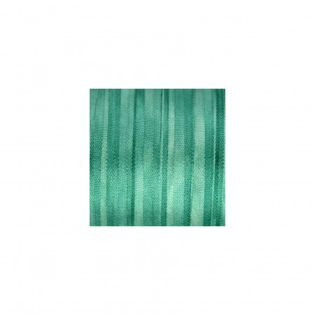 hand-dyed silk ribbon Teal Green 4mm