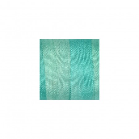 hand-dyed silk ribbon Turquoise 4mm