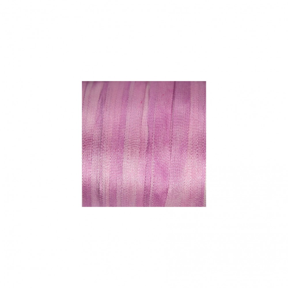 hand-dyed silk ribbon Pale Magenta 4mm