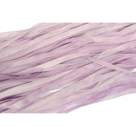 hand-dyed silk ribbon Lilac 4mm