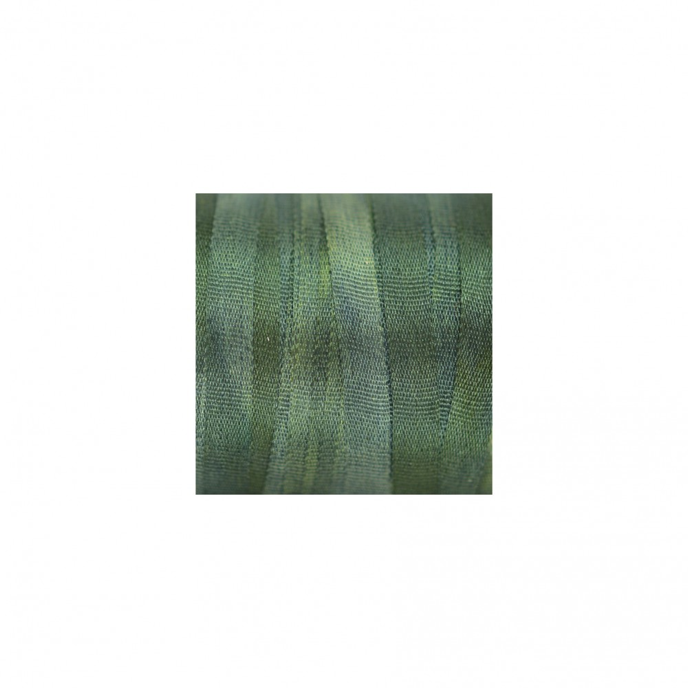 hand-dyed silk ribbon Pine 4mm