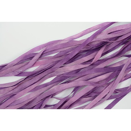 hand-dyed silk ribbon Violet 4mm
